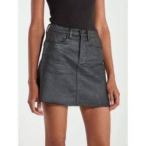 Blank NYC Spartacus Coated Mini Skirt Black 31